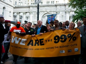 The top 1% will own as much as the other 99% combined in 2016