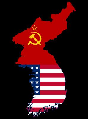 flag_map_of_divided_korea_1945_-_1950